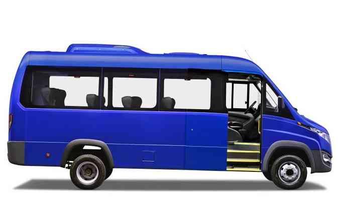 Perfil é sisudo, como nos ônibus, de chapas planas e mínimos recortes(foto: Volare/Divulgação)