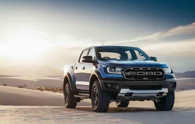 A nova Ranger chega com a grade diferenciada (foto: Ford/ Divulgação)