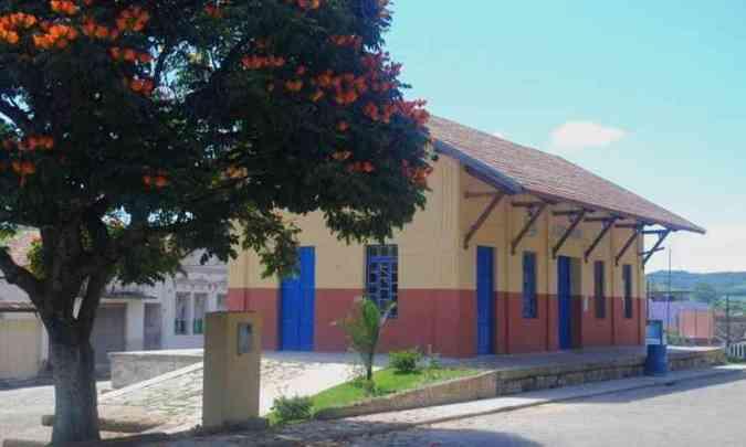 Inaugurada em 1883, Estação Ferroviária sedia encontro em Cristiano Otoni(foto: Divulgação/Prefeitura de Cristiano Otoni)