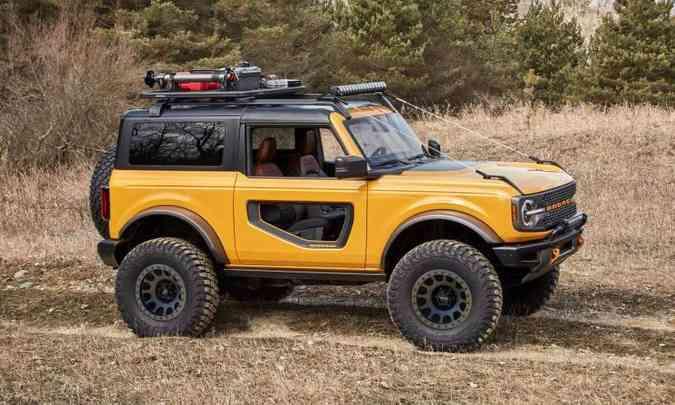 Bronco com carroceria de duas portas(foto: Ford/Divulgação)