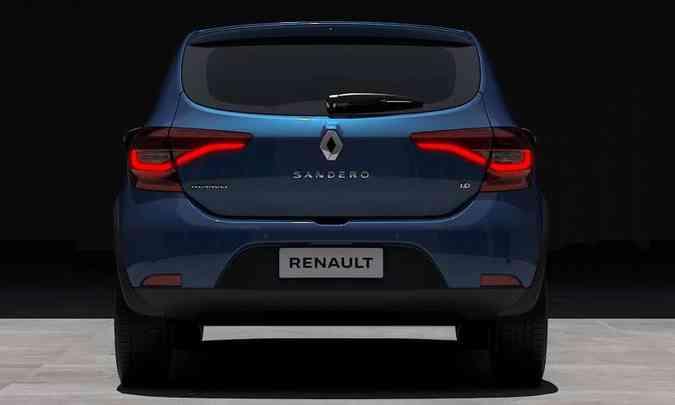 Alteração mais significativa está na traseira, com lanternas horizontais invadindo a tampa do porta-malas e a logomarca em posição mais elevada(foto: Renault/Divulgação)