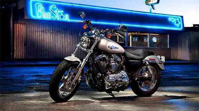 A Sportster Custom tem motor de 1.200cm³(foto: Fotos: Harley-Davidson/Divulgação)