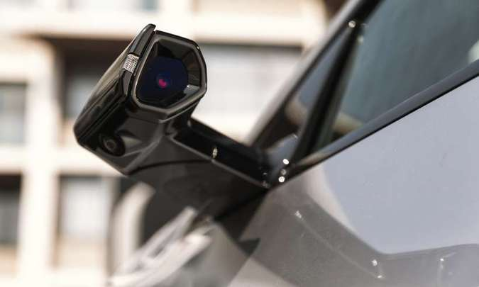 O Virtual Side Mirror é uma câmera que substitui o retrovisor convencional...(foto: Audi/Divulgação)