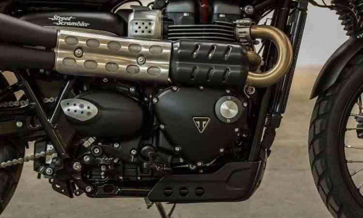O motor de dois cilindros paralelos fornece 55cv de potência - Gustavo Epifânio/Triumph/Divulgação