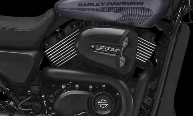 O motor dois cilindros em V, refrigerado a água, ganhou mais potência e torque(foto: Harley-Davidson/Divulgação)