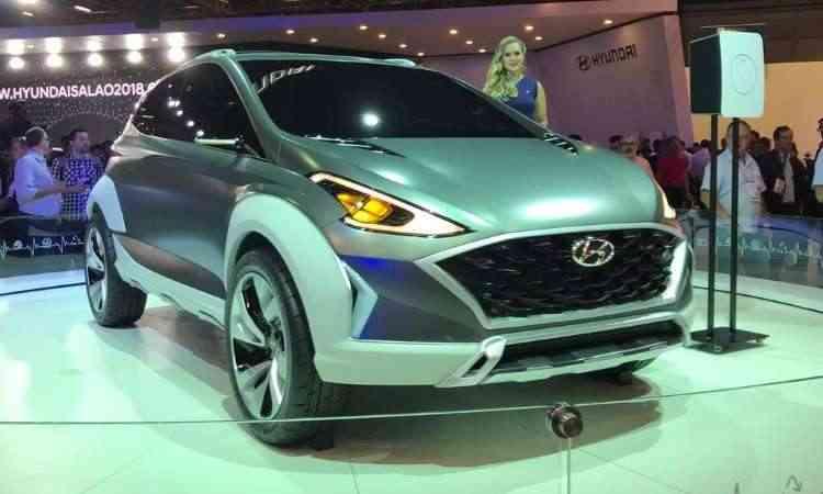 O conceito Hyundai Saga EV pode não ser exatamente o novo HB20, mas dá indicativos de como será a nova geração do compacto - Pedro Cerqueira/EM/D.A Press