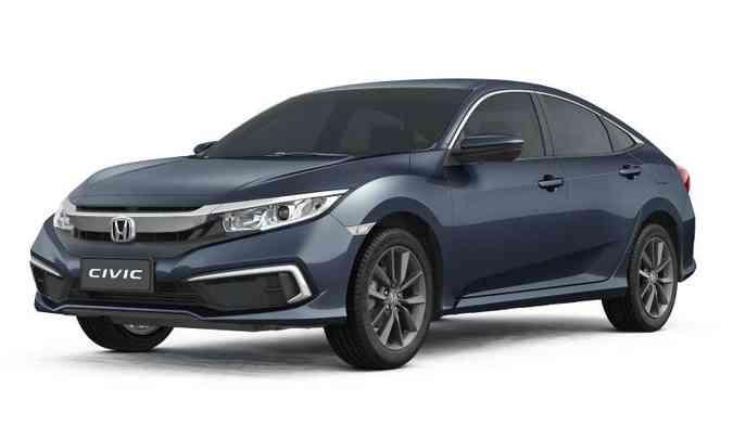 O preço da versão LX era de R$ 103.200 e na linha 2021 foi para R$ 107.200(foto: Honda/Divulgação)