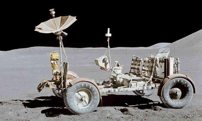 Lunar Roving Vehicle participou da missão Apollo 15, a primeira com veículo tripulado(foto: Nasa/Divulgação)
