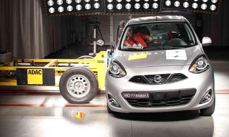 No teste de impacto lateral, a proteção para o peito do motorista foi considerada marginal - Latin NCAP/Divulgação