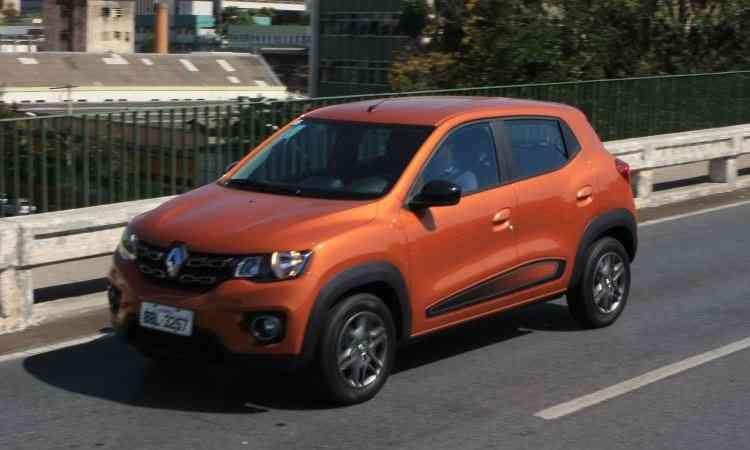Renault Kwid decepcionou ao ficar na 31ª posição no ranking de emplacamentos - Edésio Ferreira/EM/D.A Press