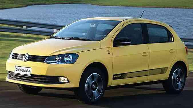 E uma das versões do Gol é justamente em homenagem ao Brasil...(foto: Volkswagen/Divulgação)