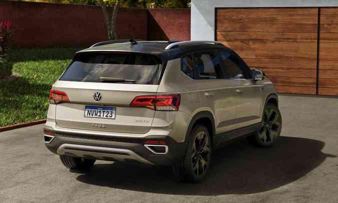 A Volkswagen não revelou quantas versões o Taos terá no Brasil, mas adiantou que será uma linha enxuta(foto: Volkswagen/Divulgação)