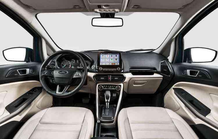 Itens tecnológicos que vêm de série dentro da cabine destacam o veículo no segmento - Ford/Divulgação