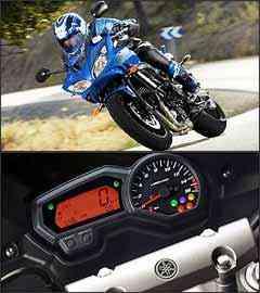 A semicarenagem do modelo FZ6 S proporciona melhor aerodinâmica nas estradas. Painel mistura elementos analógicos e digitais - Fotos: Yamaha/Divulgação