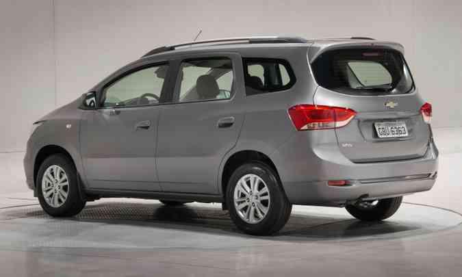 Um dos destaques do modelo de sete lugares é a versatilidade do espaço interno(foto: Chevrolet/Divulgação)