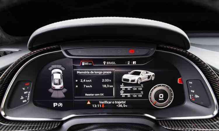 O Audi Virtual Cockpit fornece todas as informações bem à frente do motorista - Audi/Divulgação
