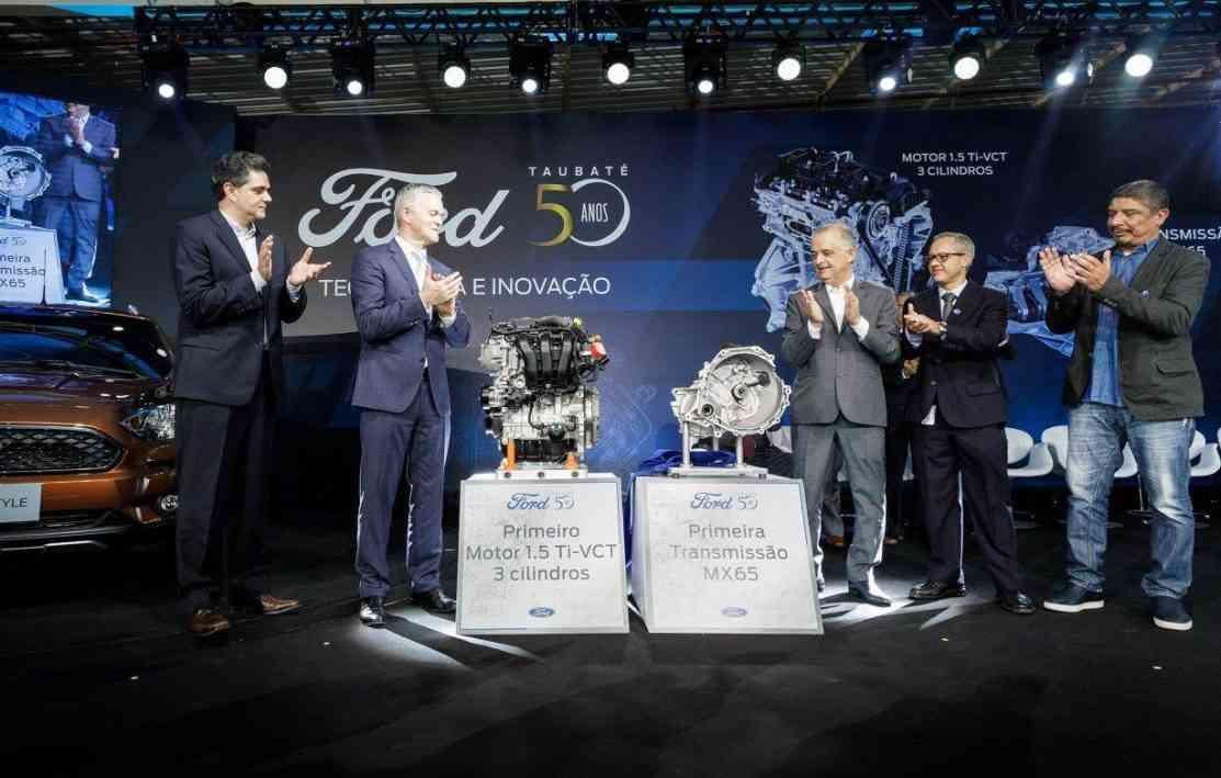 Fábrica de Taubaté produz motor 1.5 e nova transmissão  - Ford/ Divulgação