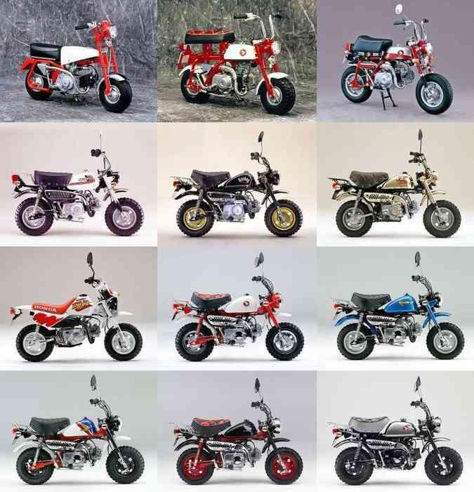 O Monkey 125 nasceu como brinquedo de parque para crianças, confira sua evolução(foto: Honda/Divulgação)
