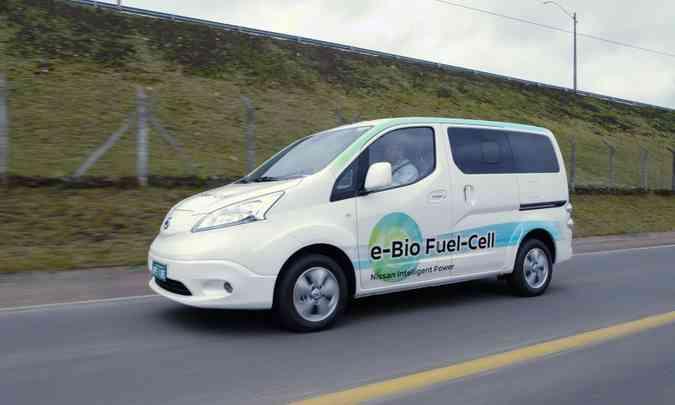 Protótipo da Nissan produz hidrogênio a partir do etanol, que já conta com estrutura de produção e abastecimento em todo o país(foto: Nissan/Divulgação)