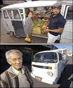 José carrega o veículo e vende para Cecília no Bairro Perobas. Fernando troca a caixa a cada 15 mil quilômetros -