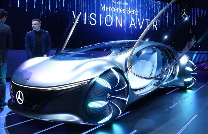 Vision AVTR é um conceito elétrico e autônomo inspirado no filme Avatar(foto: Mario Tama/AFP)