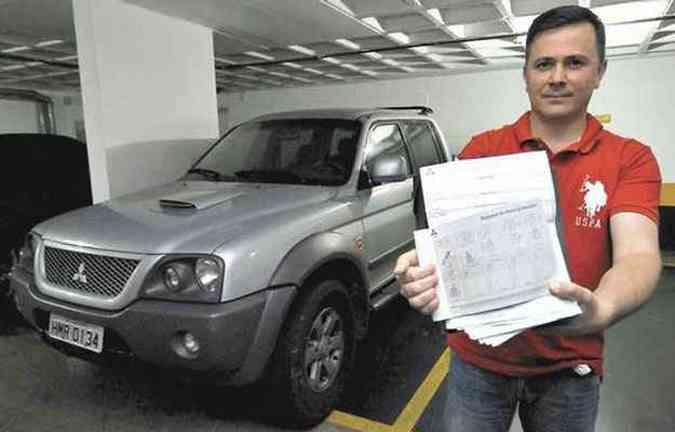 Sonho de Warley Nunes ter picape 4x4 se transforma em pesadelo(foto: Maria Tereza Correia/EM/DA Press)