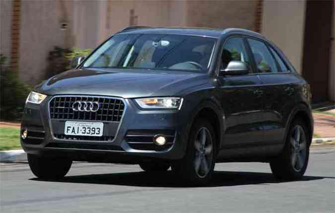 Audi Q3 2.0: As dimensões externas mais reduzidas do Q3 não revelam o bom espaço interno do modelo(foto: Marlos Ney Vidal/EM/D.A Press)