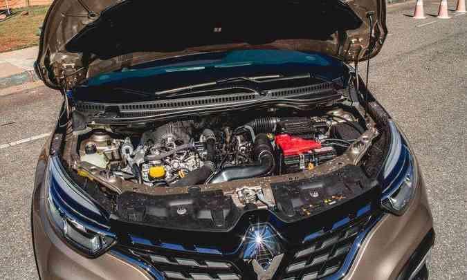 O motor 1.3 turbo desenvolve potência máxima de 170cv e garante bom desempenho na cidade e na estrada(foto: Jorge Lopes/EM/D.A Pres)