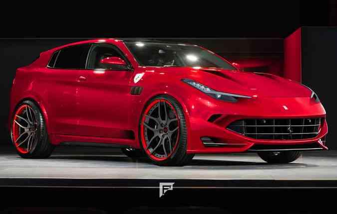 Imagem conceitual do futuro SUV da Ferrari(foto: Fabio Puddu)