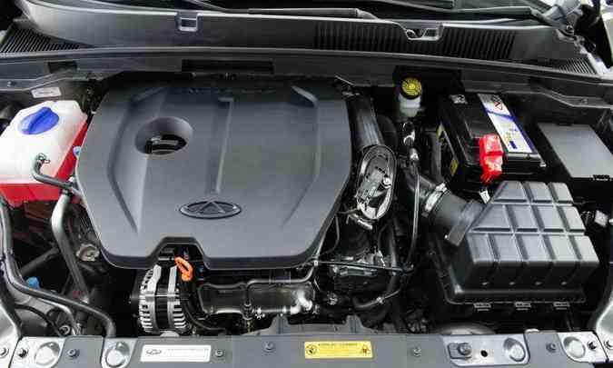 Motor 1.5 turbo tem até 150cv de potência e 21,4kgfm de torque(foto: Caoa Chery/Divulgação)