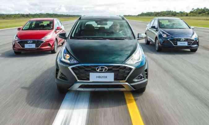 Nova família Hyundai HB20(foto: Hyundai/Divulgação)