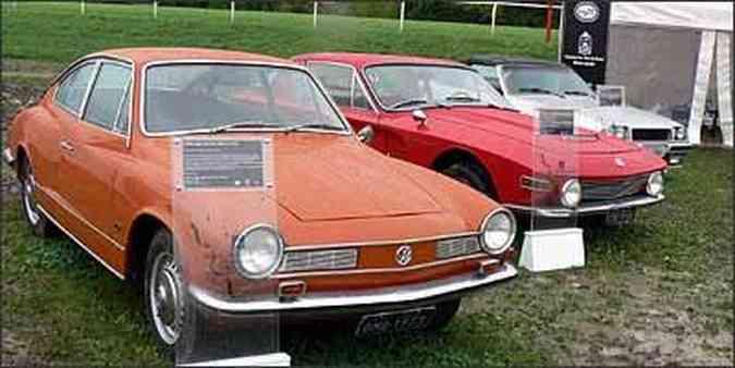 Volkswagen Karmann-Ghia TC, de 1973 / Brasinca Uirapuru, de 1965 / Santa Matilde, de 1984(foto: Fotos: Boris Feldman/Especial para o EM)
