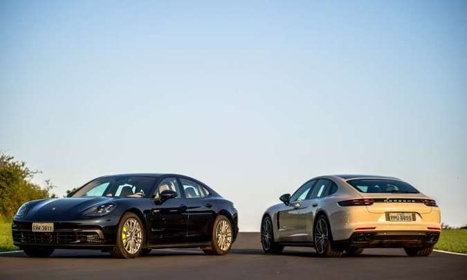 Sedã de luxo da marca alemã tem formas aerodinâmicas e esportivas(foto: Porsche/Divulgação)