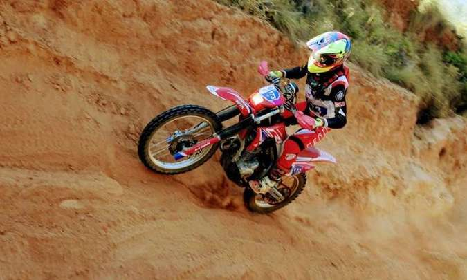 Bárbara Neves, vencedora do Enduro da Independência 2020 na categoria Feminina(foto: Janjão Santiago/Mundo Press)