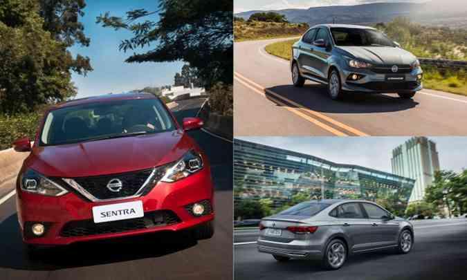(foto: Colagem com fotos de divulgação da Nissan, Fiat e Volkswagen)