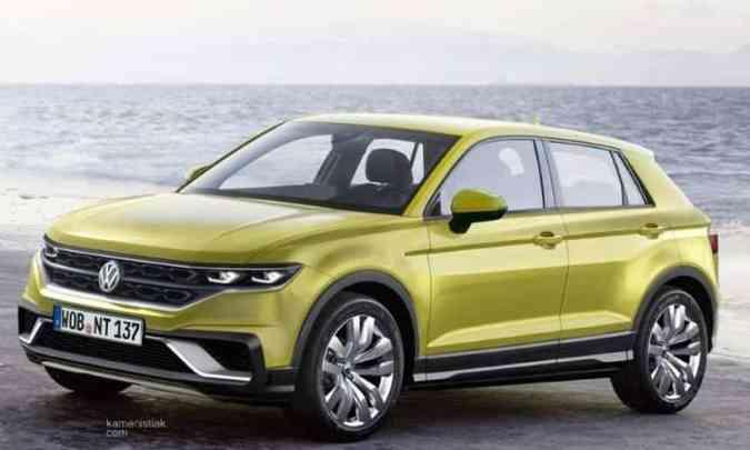 O SUV compacto T-Cross será construído sobre a mesma plataforma do Polo e Virtus, a MQB(foto: Kamenistiak.com/Reprodução da internet)