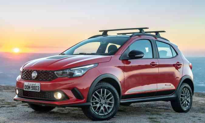 Entre as várias versões lançadas no ano, na Fiat um dos destaques foi o Argo Trekking(foto: Fiat/Divulgação)