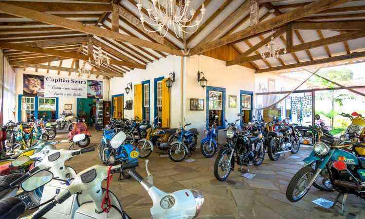 O Museu da Moto abriga 83 modelos distribuídos em uma área de 2.800 metros quadrados - Rômulo Provetti/Divulgação