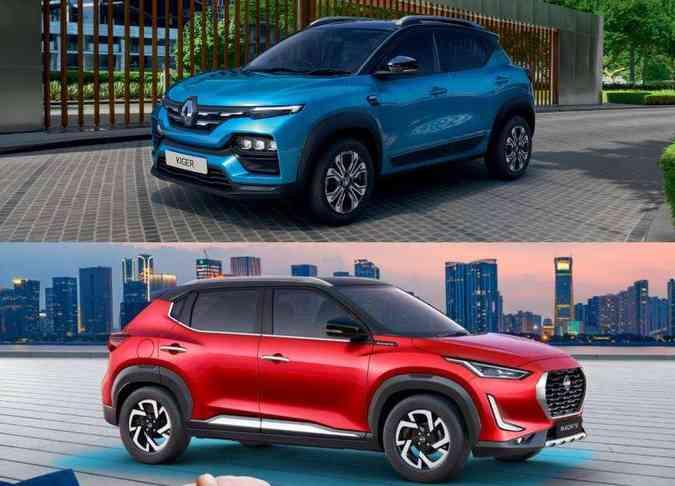 (foto: Montagem com fotos de divulgação da Nissan e Renault)