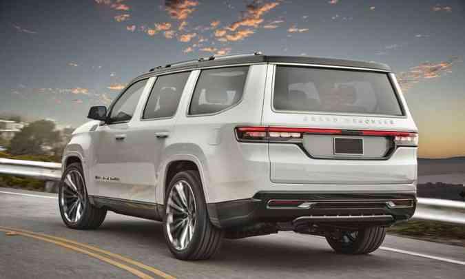 O Grand Wagoneer Concept foi inspirado no original, com uma interpretação moderna de luxo(foto: Jeep/Divulgação)