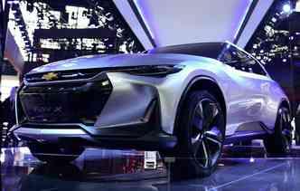 FNR-X conceito possui um motor híbrido plug-in. Foto: Wang Zhao / AFP