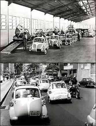 Quando o modelo deixou de ser produzido na Itália, em 1956, o ferramental foi transferido para o Brasil, onde a Iso fez parceria com a Romi para a produção do Isetta, que foi lançado em setembro de 1956(foto: Fotos: Romi-Isetta/Divulgação)
