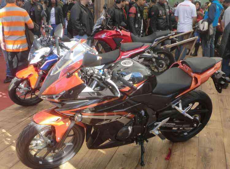 A Honda apresentou em primeira mão a nova família CB 500 - Fred Mancini/Bike Fest/Divulgação
