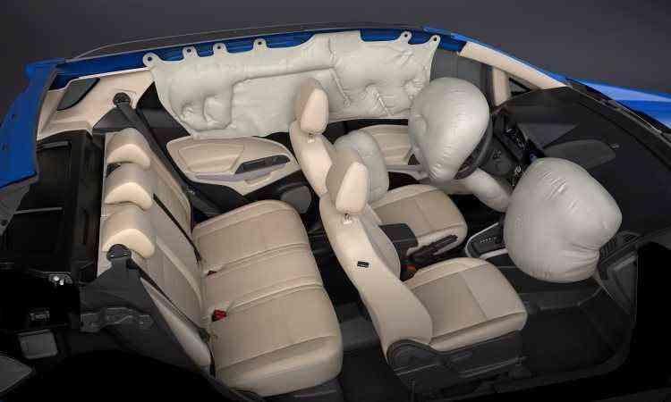Sete airbags são de série - Ford/Divulgação