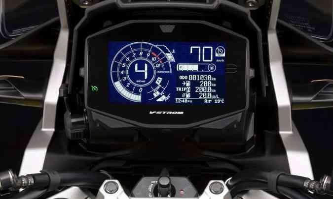 O painel foi redesenhado, com tela única em LCD(foto: Suzuki/Divulgação)