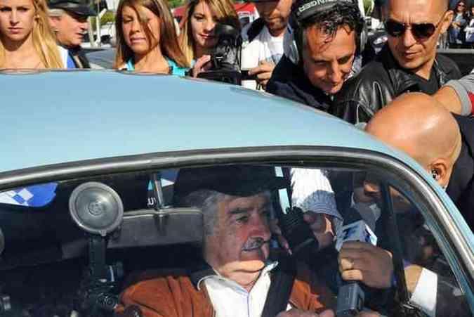 Volkswagen Fusca de José MujicaPresidência do Uruguai/Divulgação
