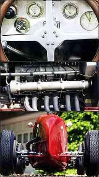 Modelo de competição tem painel com todos os instrumentos necessários e o eficiente motor seis cilindros de 1.500cm³ e 182hp de potência. Com formas aerodinâmicas, esportivo italiano conquistou vitórias em importantes provas pelo mundo