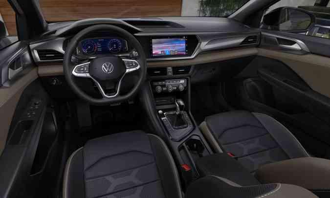 O sistema multimídia VW Play, com tela tátil de 10 polegadas, será item de série em todas as versões(foto: Volkswagen/Divulgação)
