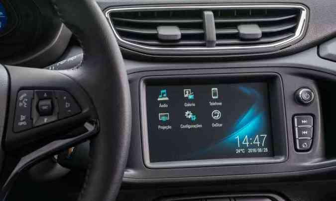 Sistema multimídia MyLink de segunda geração é outra novidade(foto: General Motors/Divulgação)