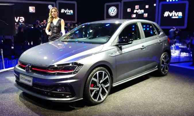 O Polo GTS também chegará ao mercado, porém a VW não revelou qual a motorização(foto: Pedro Cerqueira/EM/D.A Press)